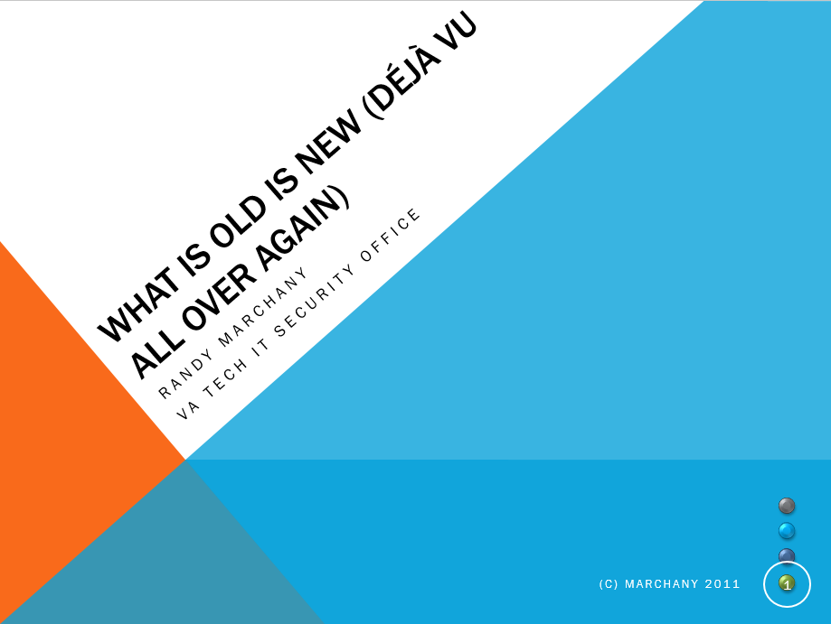 Randy Marchany - Whats Old is New Again