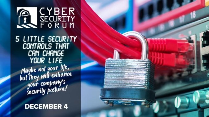 Roanoke-Blacksburg Cybersecurity Forum event poster